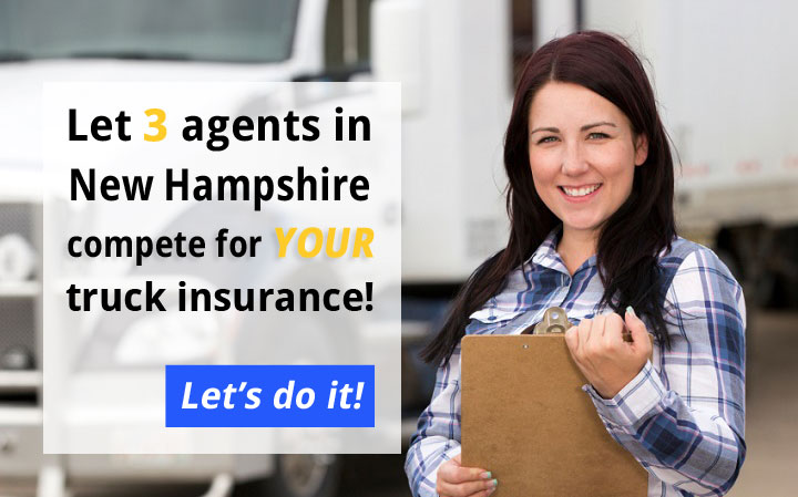 3 New Hampshire Commercial Truck Insurance Quotes