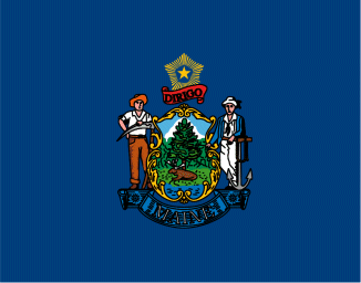 ME state flag