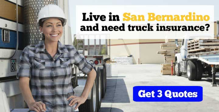San Bernardino trucking insurance quotes